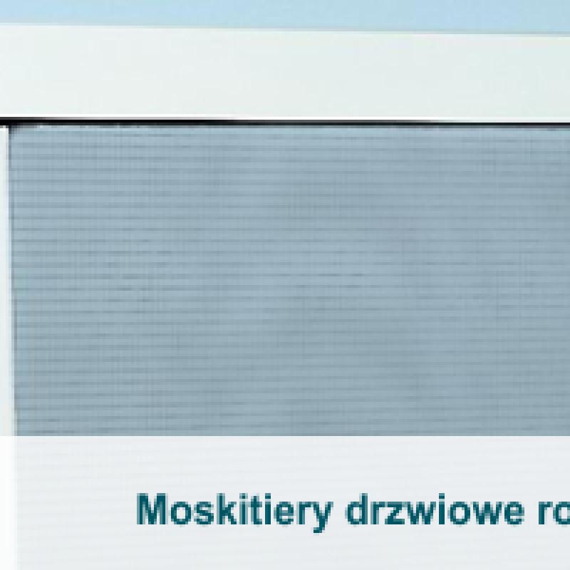 Moskitiery drzwiowe rolowane