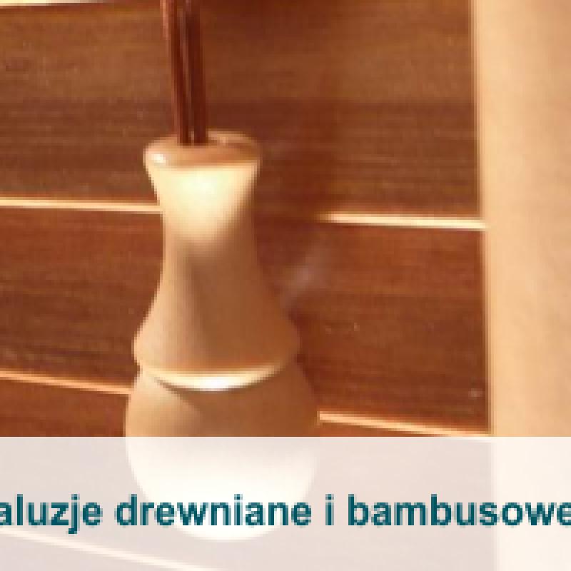 Żaluzje drewniane i bambusowe 25 mm